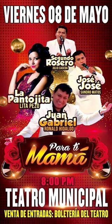 La Pantojita, Jose Jose, Juan Gabriel y Segundo Rosero