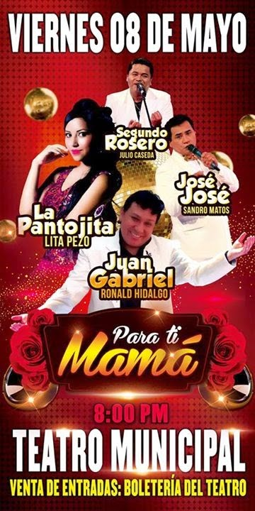 La Pantojita, Jose Jose, Juan Gabriel y Segundo Rosero en Arequipa - 08 de Mayo