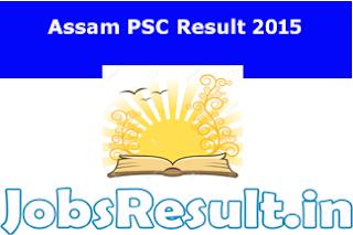 Assam PSC Result 2015