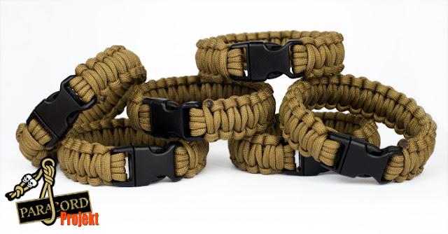 Bransoletki militarne z paracordu CLASSIC COYOTE