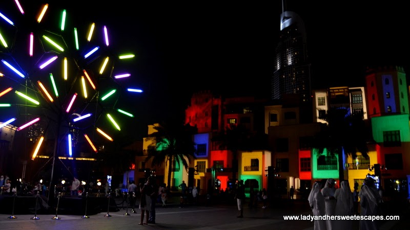 Big Tree and The World According to Piet at Dubai Festival of Lights