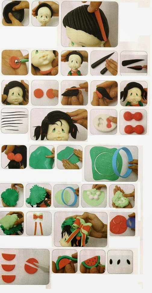 390Как сделать из полимерной глины куколку