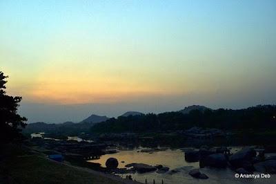 Tungabhadra river, Hampi, Karnataka