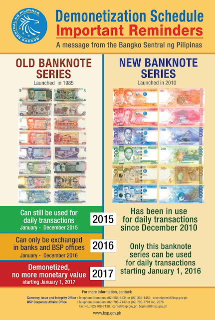 demonetization final schedule, process for old peso bills