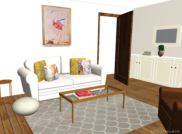 Virtual lounge design by Amy MacLeod - five Kinds of Happy blog