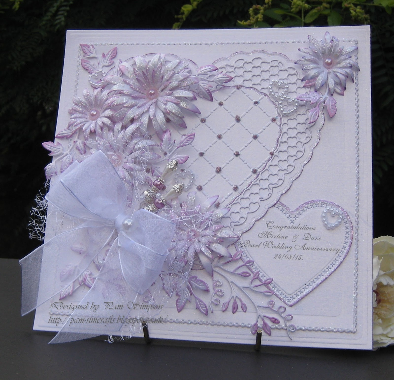 Friends Pearl Wedding Anniversary Card
