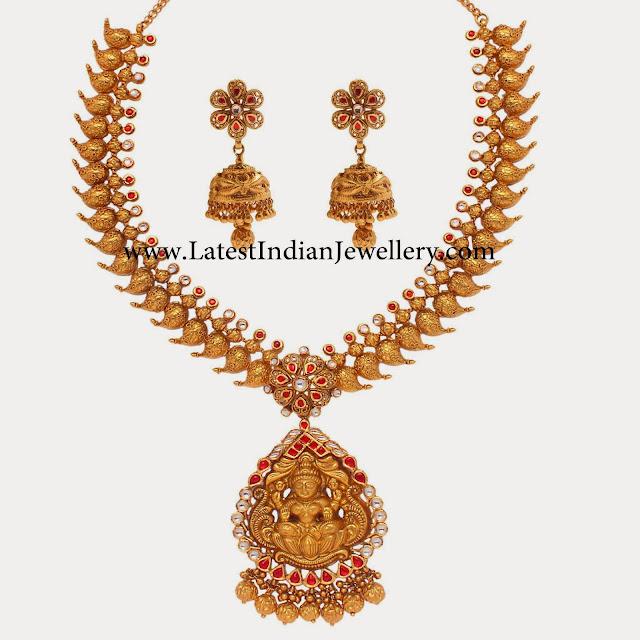 Mango Mala with Lakshmi Pendant