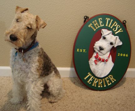 The Tipsy Terrier Pub sign - The Tipsy Terrier Pub blog