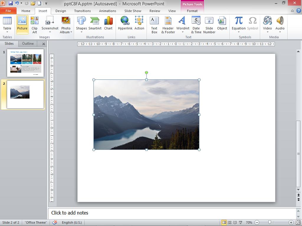 Tutorial memasukkan gambar di Powerpoint