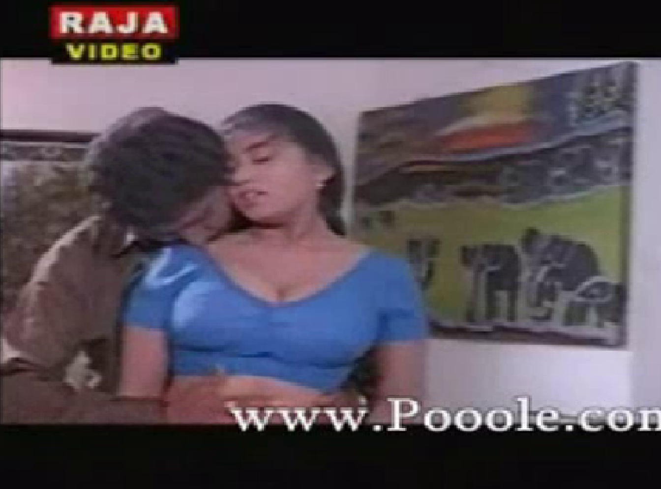 Mallu Aunty Devika Hot In Blue Blouse Pictures