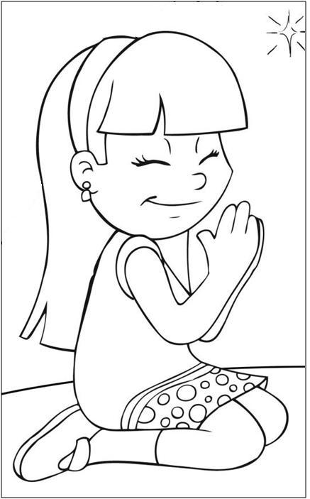 Dibujos de niños orando para imprimir - Imagui