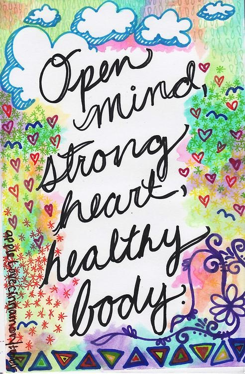 inspirational picture quotes open mind strong heart