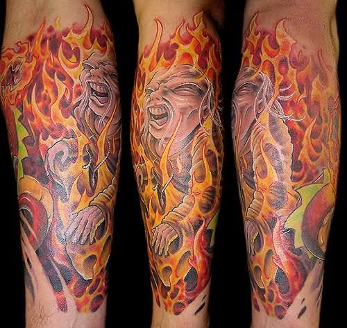 Amazing Fire Flame Tattoo Designs