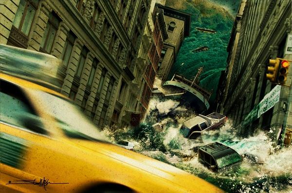 Imágenes de desastres apocalípticos, retocadas digitalmente.