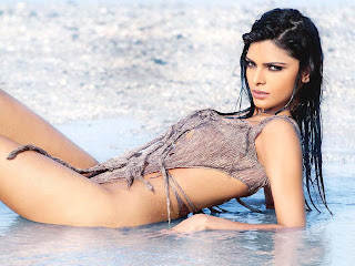 Sherlyn chopra on beach and sea and juhu beach images and wallpapers free