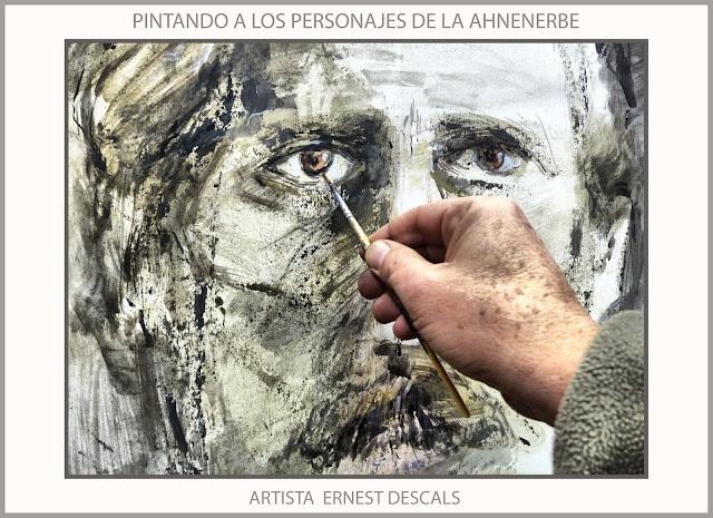 AHNENERBE-ARTE-PINTURA-MISTICOS-ALEMANIA-SS-PERSONAJES-MISTICA-PINTANDO-RETRATOS-PINTURAS-ARTISTA-PINTOR-ERNEST DESCALS-