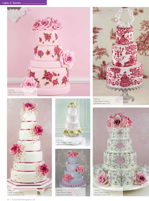Tartas pintadas, hand painted wedding cakes, beautiful cakes