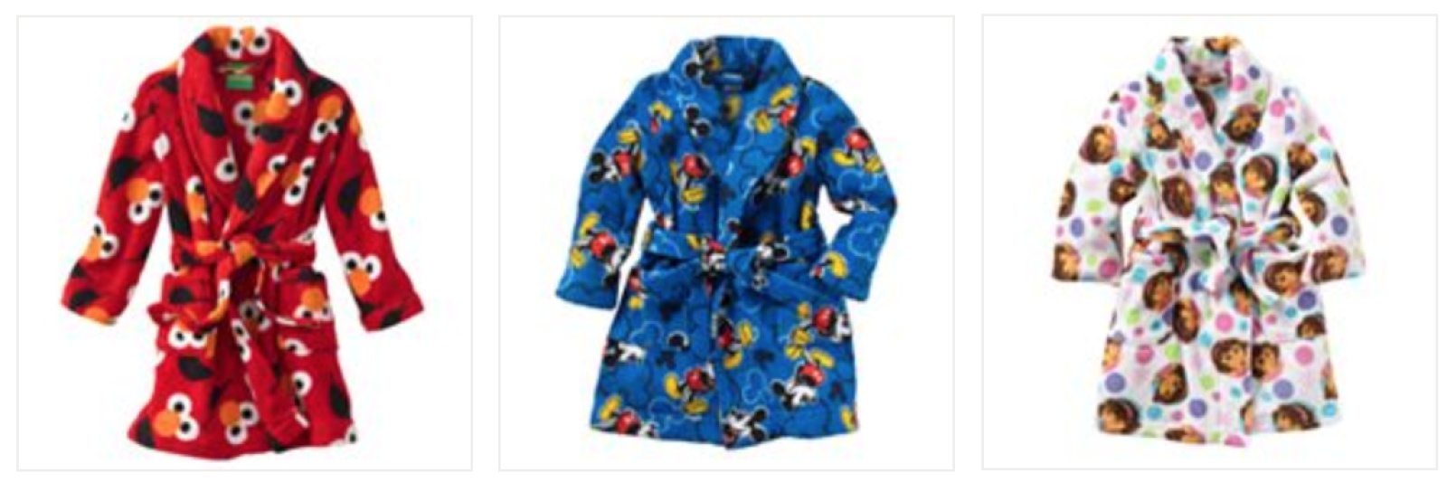 Kohls.com: Toddler Character Fleece Robes = $11.99 + FREE Shipping