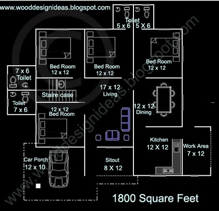 4 Bedroom Low Budget House Plan