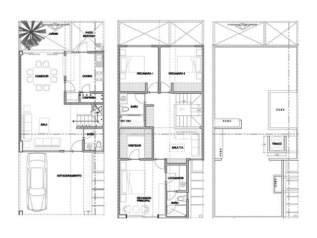 Baños En Planta Arquitectonica:Plano de Distribución de Casa en Fracc Rincón del Ángel en