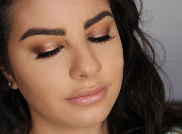 makeup geek mug grandstand foiled eyeshadow makeup look metallic brown fotd esqido oh so sweet lashes