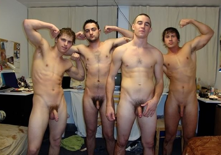 Think, Straight male nude group thank for