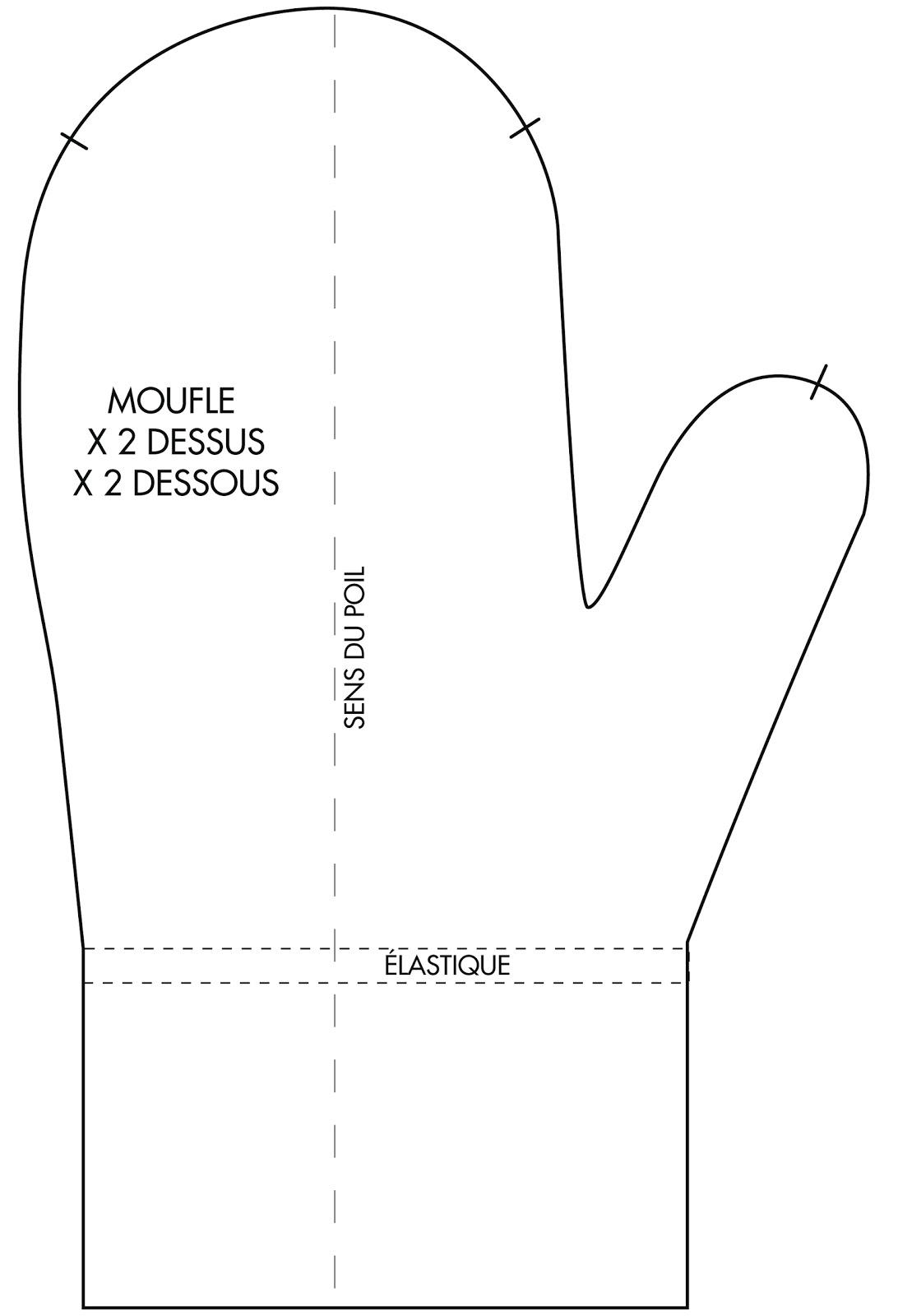 patron couture moufle