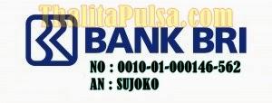 Rekening BRI Baru Untuk Deposit Thalita Reload Pulsa Payment PPOB Blora