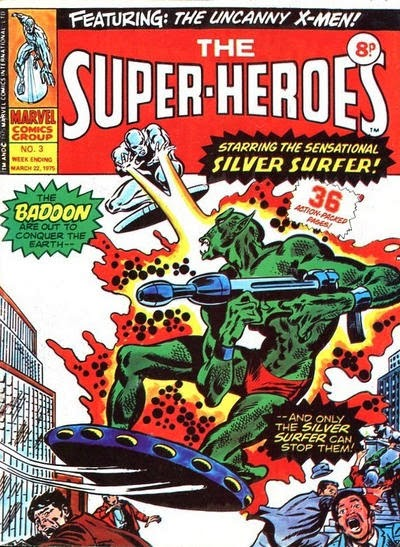 Marvel UK, The Super-Heroes #3, Silver Surfer vs the Badoon