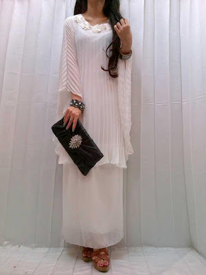 Maxi Dress Plisket Bunga Oval Kode 88-55168