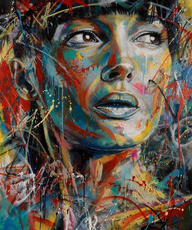 spotlight on art david walker 39 s beautiful spray paint creations. Black Bedroom Furniture Sets. Home Design Ideas