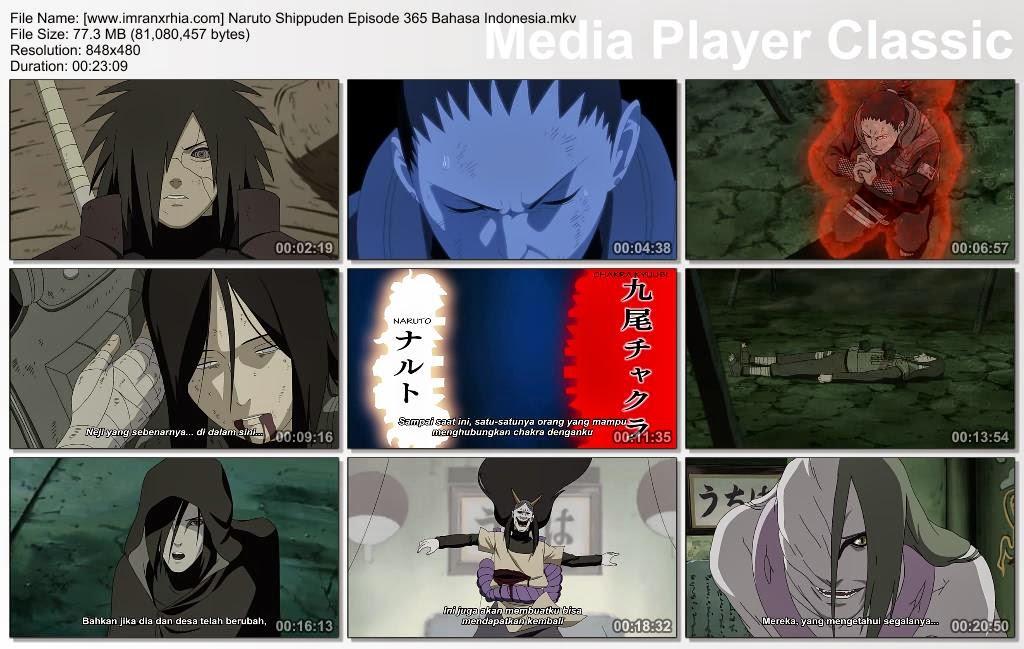 """Download Film / Anime Naruto Episode 365 """"Mereka yang Menari di Dalam Bayangan"""" Shippuden Bahasa Indonesia"""