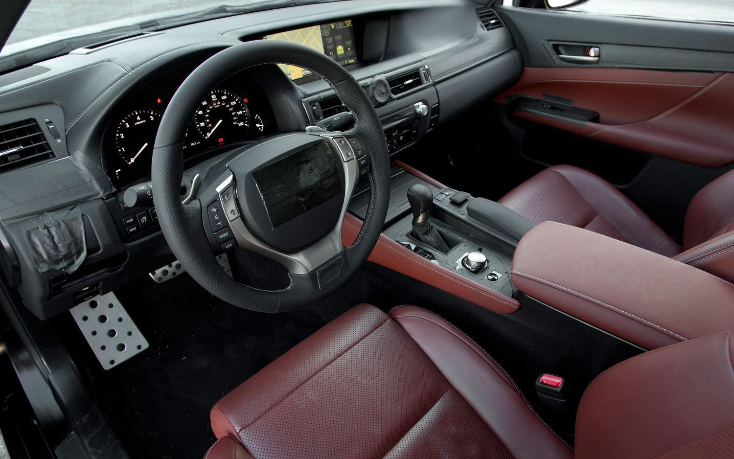 The 2013 Lexus GS350 With F SPORT Interior.