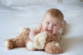 Cute Little Baby Boy Playing With Toy HD Wallpaper