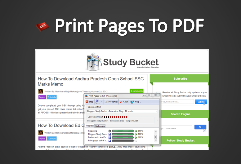 Print Pages To PDF Through Firefox Browser