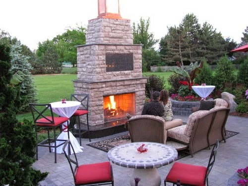 patio fireplaces sample pictures