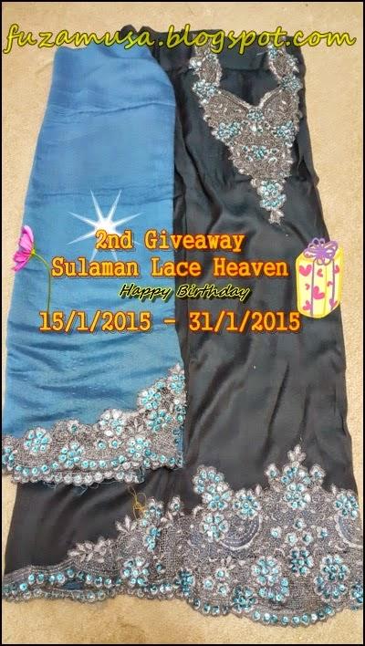 2ND GIVEAWAY SULAMAN LACE HEAVEN - HAPPY BIRTHDAY FUZA