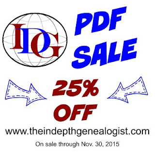 The In-Depth Genealogist Offers 25% Off All PDF's