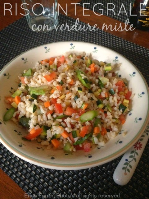 Ricetta Riso integrale con verdure