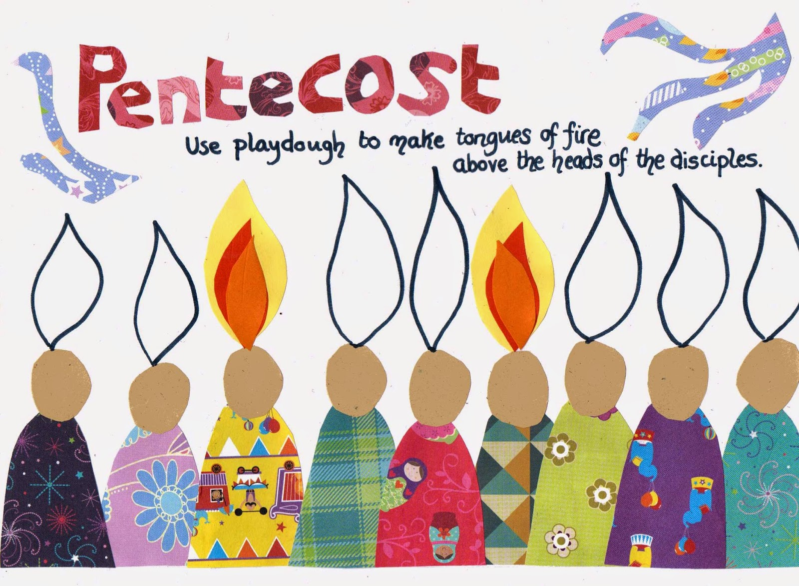 Flame creative children 39 s ministry pentecost play dough mat for Holy spirit crafts for sunday school