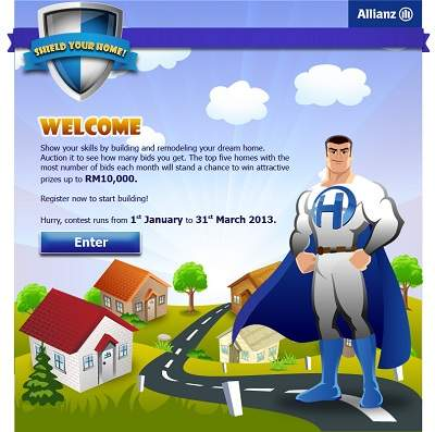 Allianz shield your home contest win attractive prizes for Win a home contest