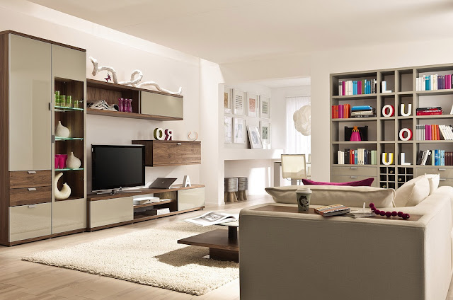masculine living room with media center Top 10 Sports style living room ideas