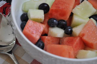 Fruit Salad with Tequila Lime Sauce