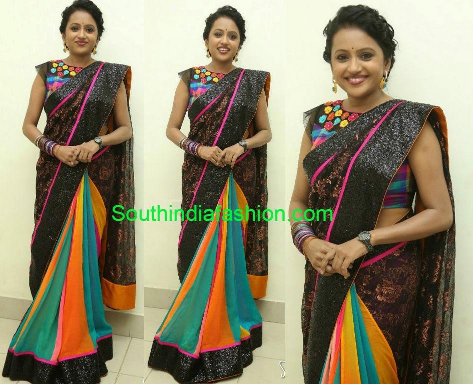 anchor suma latest sarees 2014
