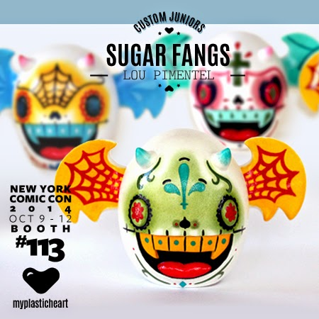 "New York Comic Con 2014 Exclusive ""Sugar Fangs"" Custom Junior Vinyl Figures by Lou Pimentel"