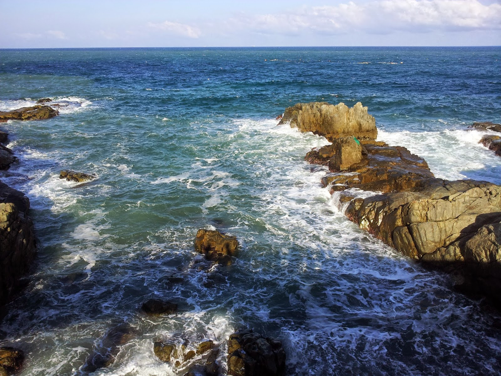 rocky beach of Busan