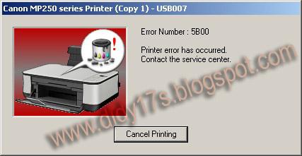 lcd di printer canon mp258 dan menyuruh kita membawa printer ke tempat