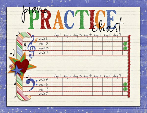 Impeccable image inside music practice chart printable free