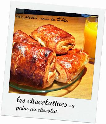 chocolatines maison ou pains aux chocolat