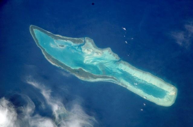 foto pulau maratua dari atas udara